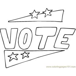 Vote (22) coloring page