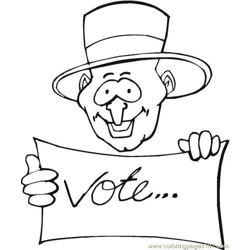 Vote (24) coloring page