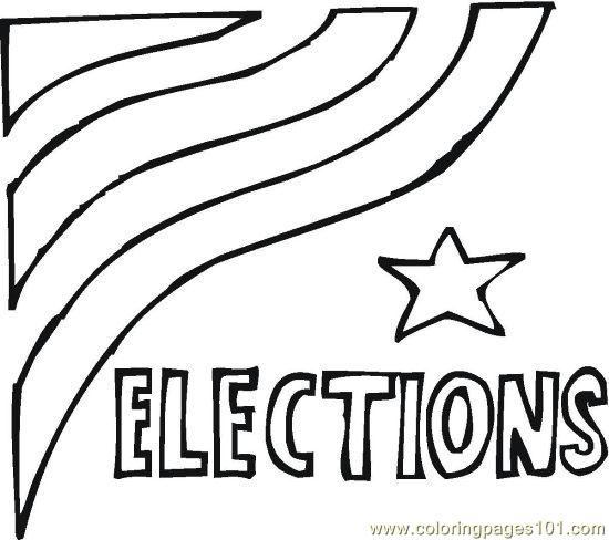 vote  19  coloring page