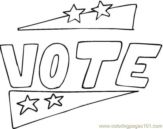 Vote 22 Coloring Page Free Politics Coloring Pages