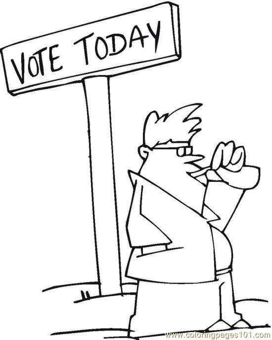 Vote (23) Coloring Page