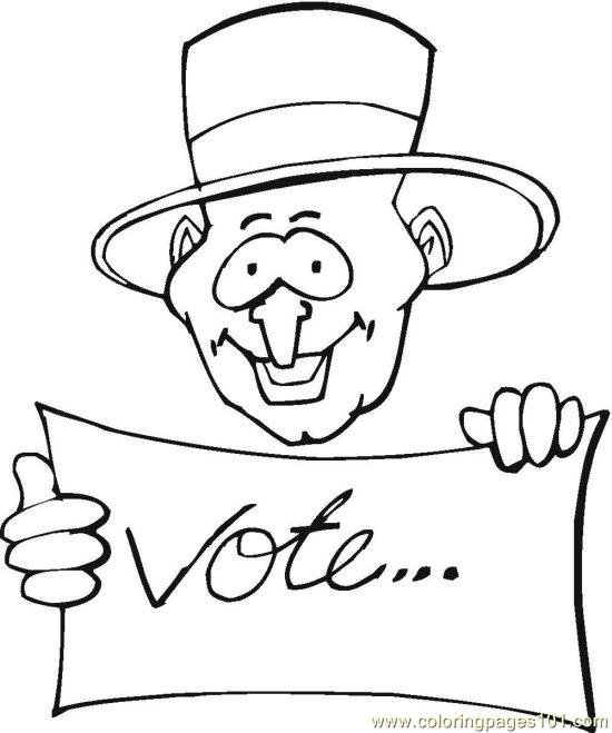 coloring pages vote - photo#21