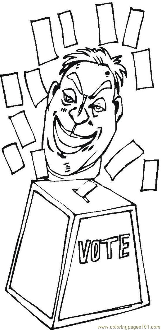vote  2  coloring page