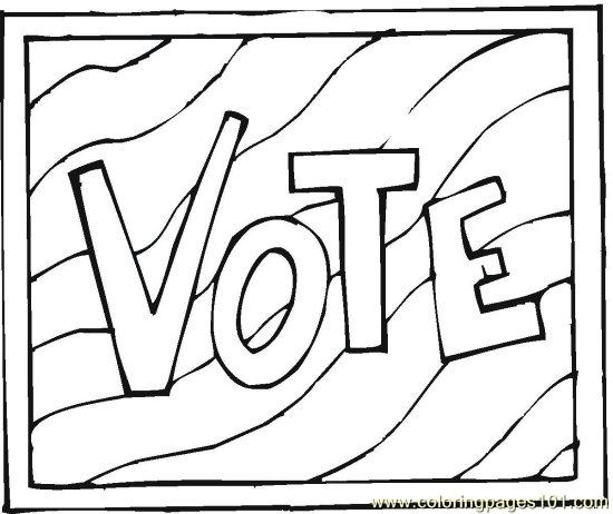 coloring pages vote - photo#12