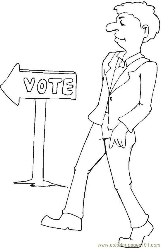Vote (3) Coloring Page