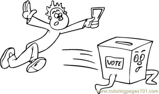 Vote (4) Coloring Page