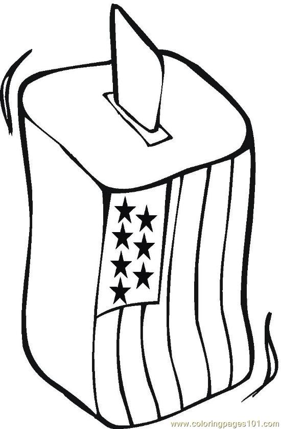 Vote Coloring Page Free Politics
