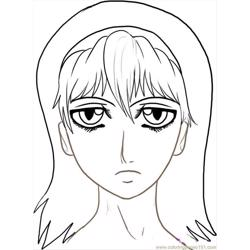 Ow To Draw Anime Faces Step 7 coloring page