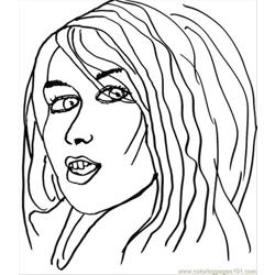Pop Artist1ff Free Coloring Page for Kids