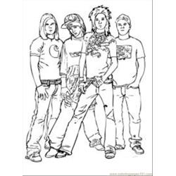 Pop Artistm2 coloring page