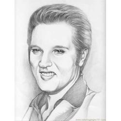 Portrait Of Elvis4 coloring page
