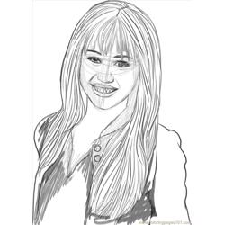 Yrus As Hannah Montana Step 6 coloring page