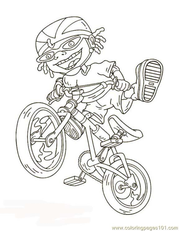 Ottobike1 Coloring Page