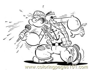 Popeye05 Coloring Page