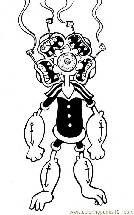 Popeye Coloring Pages Printable - Coloring Home | 724x450