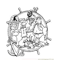 Popeye06 Free Coloring Page for Kids