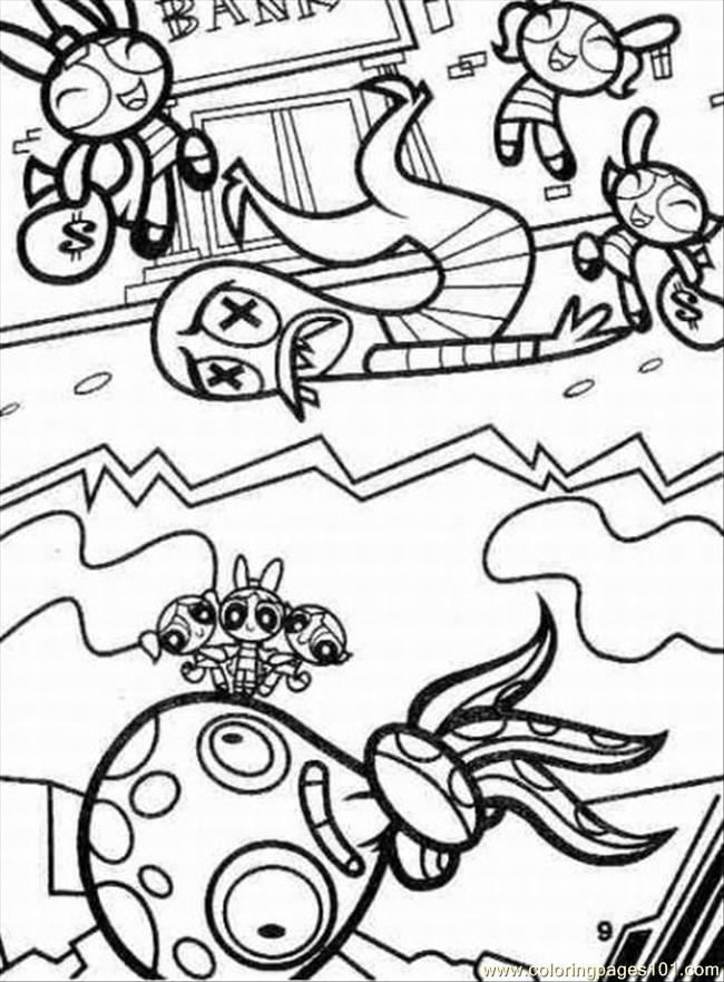 Powerpuff Girls4 Coloring Page