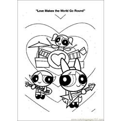 Power Puff Pirls coloring page