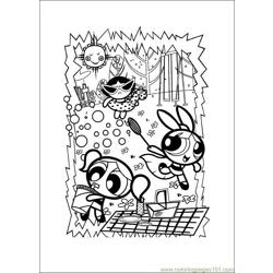 Power Puff Pirls Free Coloring Page for Kids