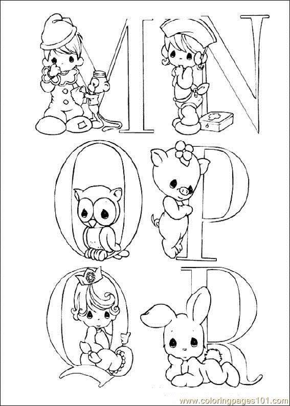Precious Moments Printable Coloring Page For Kids And Adults
