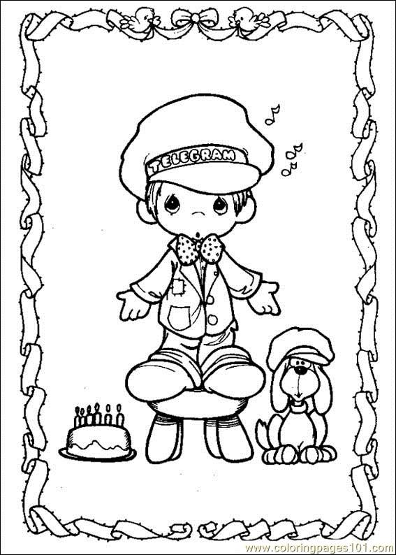 precious moments coloring pages military - photo#28