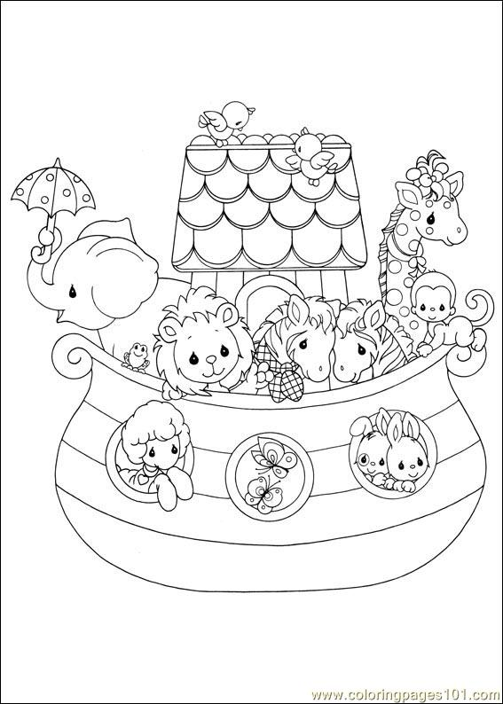 precious moments 05 coloring page - Coloring Pages 101