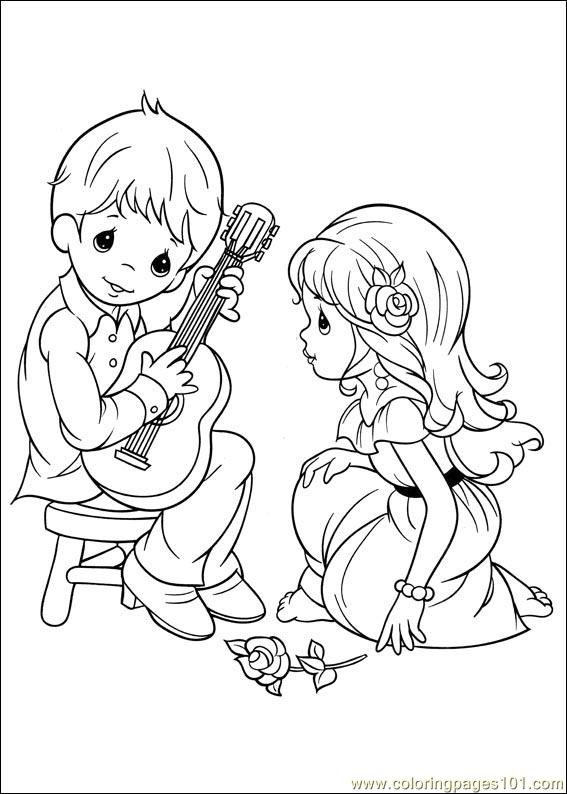 precious moments coloring pages military - photo#5