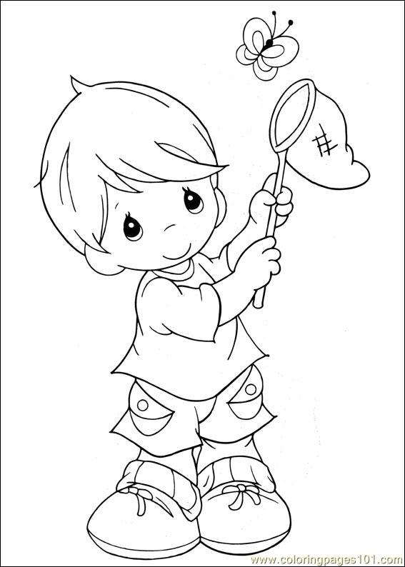 Precious Moments 10 Coloring Page Free Precious Moments