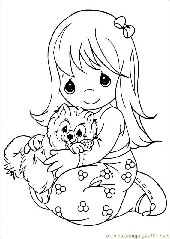Precious Moments 14 Coloring Page