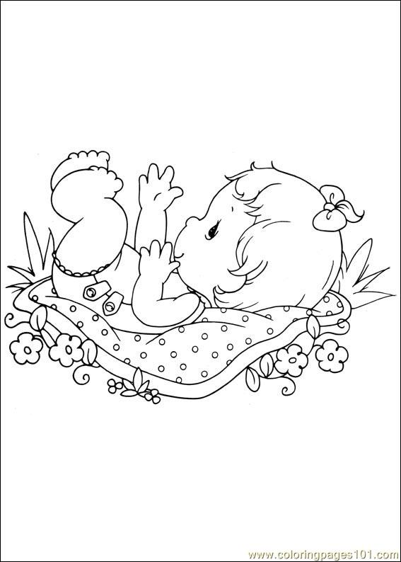 Precious Moments 23 Coloring Page
