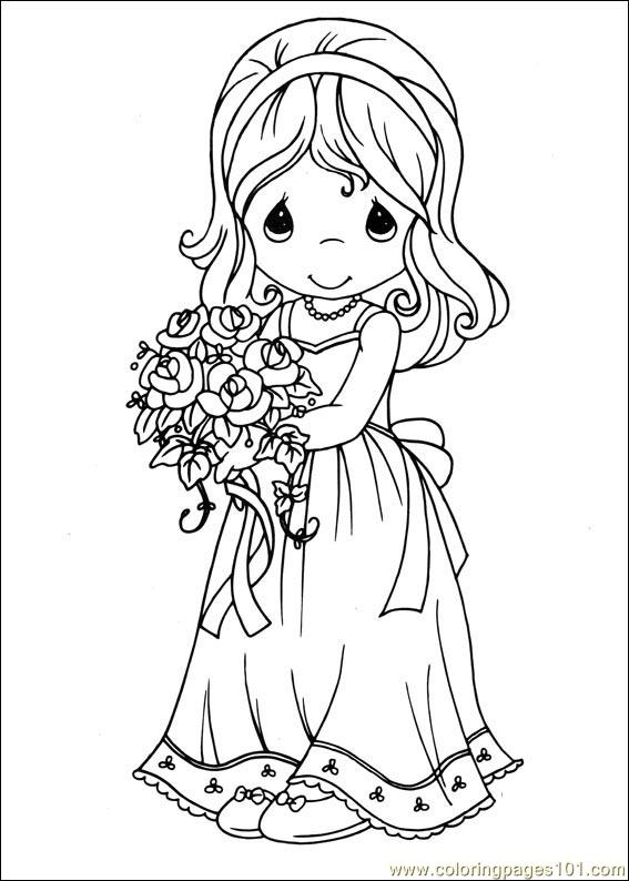 Precious Moments 28 Coloring Page