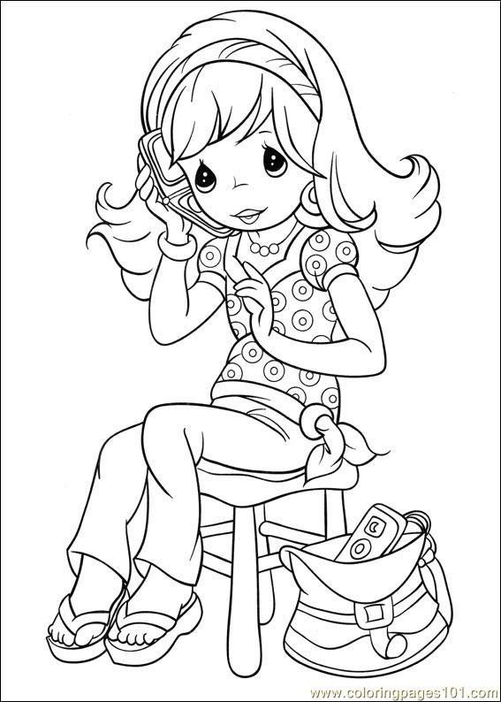 Precious Moments 31 Coloring Page For Kids - Free Precious Moments  Printable Coloring Pages Online For Kids - ColoringPages101.com Coloring  Pages For Kids