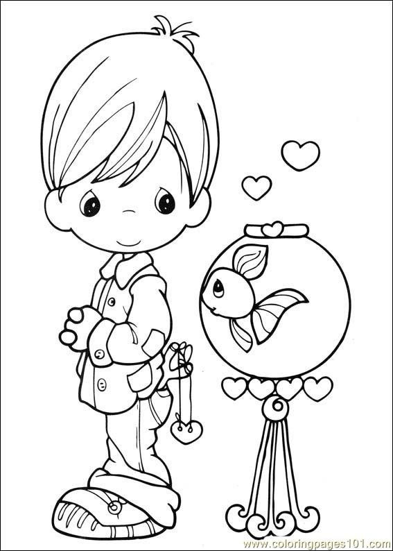 - Precious Moments 41 Coloring Page - Free Precious Moments Coloring Pages :  ColoringPages101.com