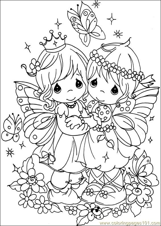 Precious Moments 43 Printable Coloring Page For Kids And Adults