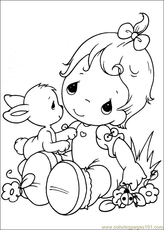Precious Moments 46 Coloring Page Free Precious moments