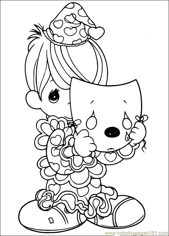 Precious Moments 50 printable coloring page for kids and ...