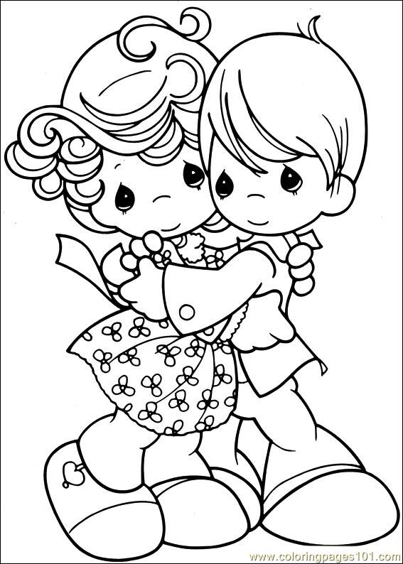 precious moments 53 coloring page - Precious Moments Coloring Pages