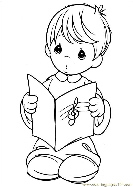 precious moments coloring pages military - photo#26