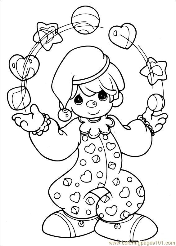 Precious Moments 56 Coloring Page