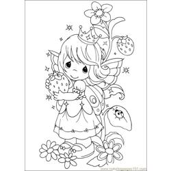 precious moments coloring pages cow - photo#41