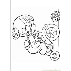Precious Moments Free Coloring Page for Kids