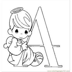 Oments Alphabet Coloring Page