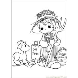 Precious Moments 44 coloring page