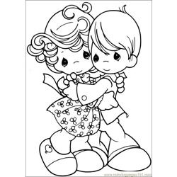 Precious Moments 53 coloring page