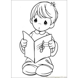 Precious Moments 54 coloring page