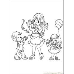 Precious Moments 57 coloring page