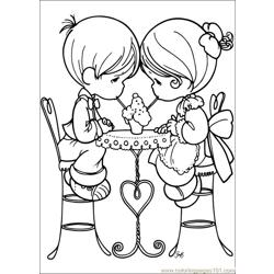 Precious Moments 59 coloring page