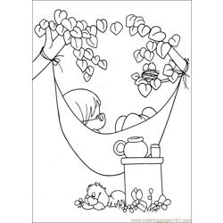 Precious Moments 60 Free Coloring Page for Kids