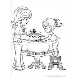 Precious Moments 61 Free Coloring Page for Kids