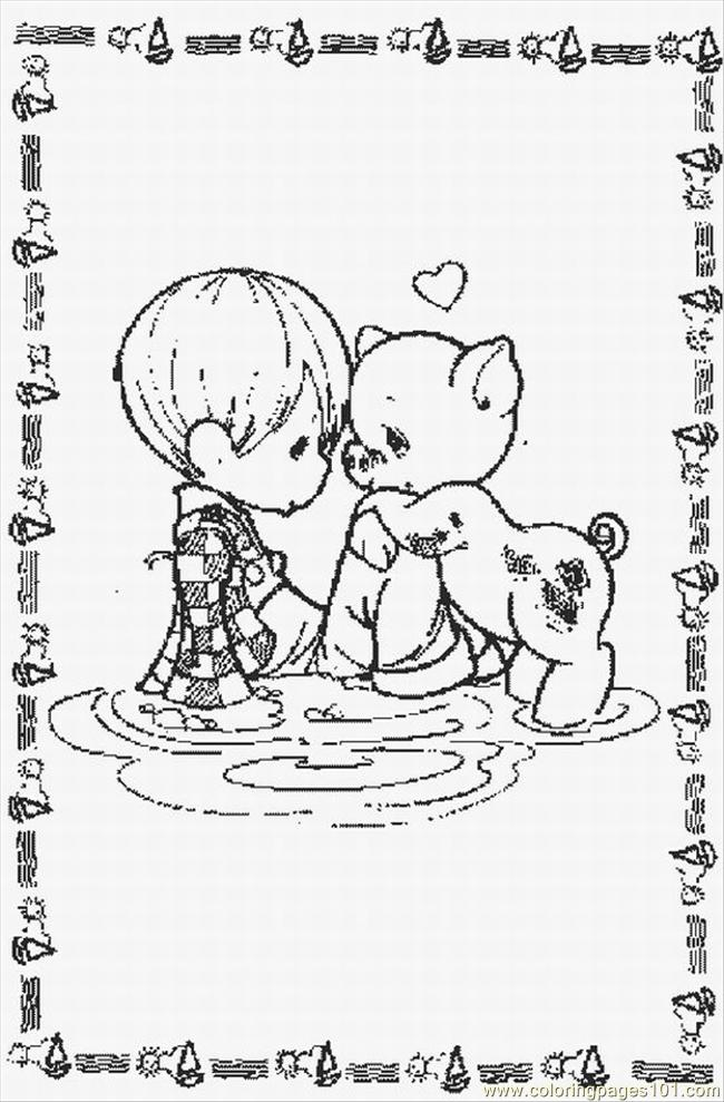 Us Momentslrg Coloring Page Free Precious moments